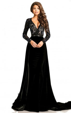 Johnathan Kayne 8013 Black Back Dress
