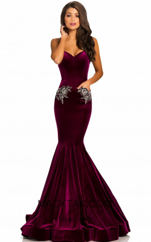 Johnathan Kayne 8026 Magenta Front Dress