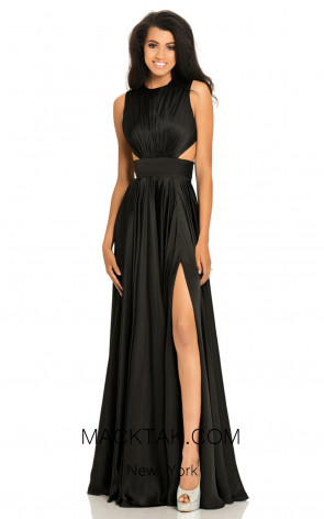 Johnathan Kayne 8072 Black Front Dress