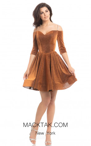 Johnathan Kayne 8207 Copper Front Dress