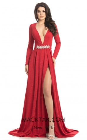 Johnathan Kayne 8208 Red Front Dress