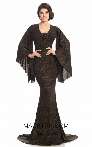 Johnathan Kayne 8214 Black Gold Front k Dress