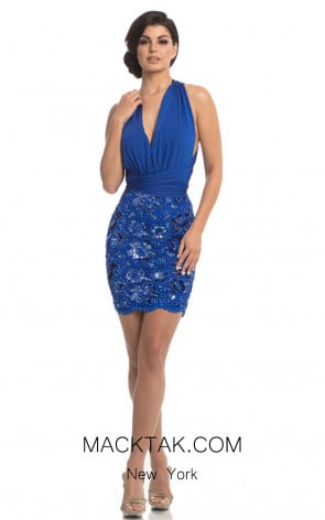 Johnathan Kayne 8217 Royal Front Dress