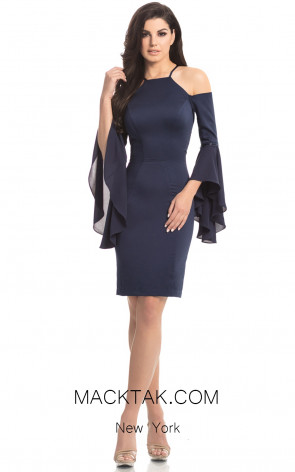 Johnathan Kayne 8246 Navy Front Dress