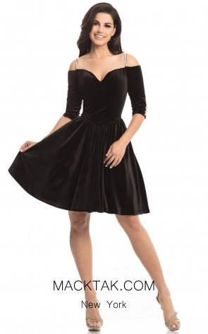 Johnathan Kayne 8248 Black Front Dress