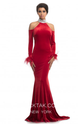 Johnathan Kayne 9015 Red Front Dress