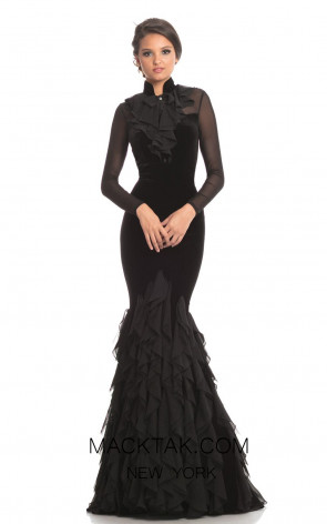 Johnathan Kayne 9052 Black Front Dress