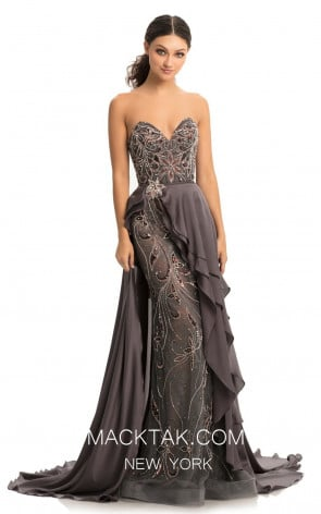 Johnathan Kayne 9058 Gunmetal Front Dress