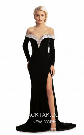 Johnathan Kayne 9084 Black Front Dress