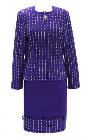 KNY H140 Violetta Front Knit Suit