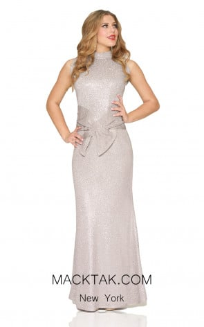Kourosh Evening 80070 Platinium Front Dress