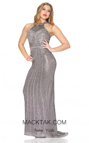 Kourosh Evening 80086 Chrome Front Dress