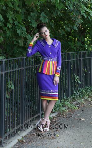 KNY H148 Violetta Multi Front Knit Suit