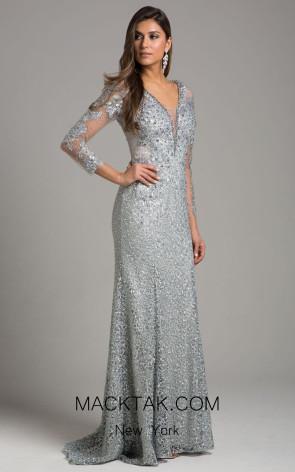 Lara 29919 Silver Front Dress