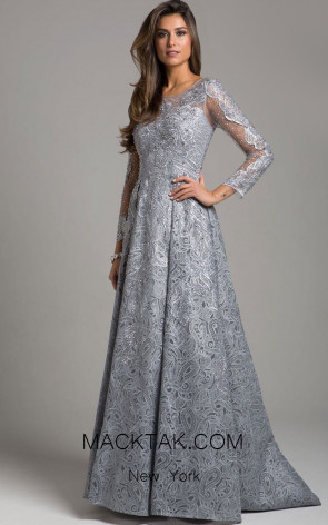 Lara 29923 Gray Front Dress
