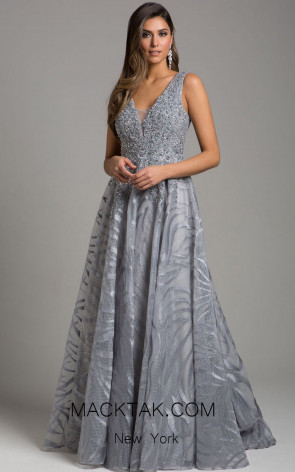 Lara 29926 Gray Front Evening Dress