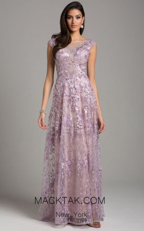 Lara 29930 Mauve Front Evening Dress