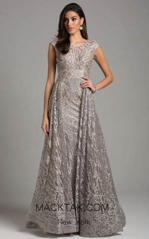 Lara 29931 Silver Front Evening Dress