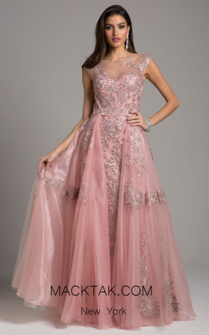 Lara 29946 Mauve Front Evening Dress