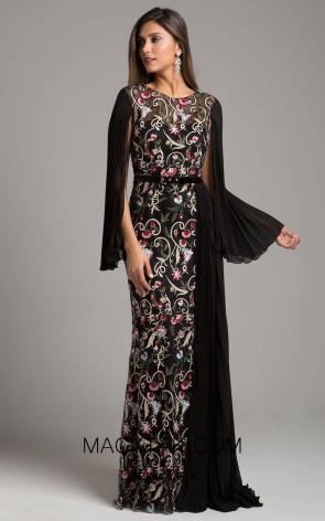 Lara 29959 Black Multi Front Dress