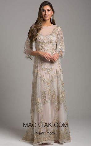 Lara 29965 Gold Silver Front Dress