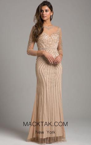 Lara 29970 Champagne Front Dress