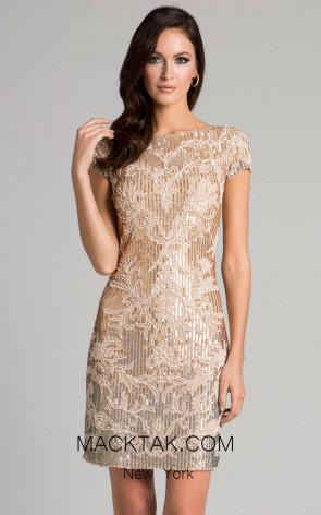 Lara 33034 Nude Multi Front Evening Dress
