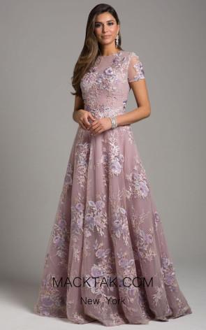 Lara 33596 Dusty Purple Front Dress