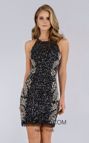 Lara 29718 Black/Silver Front Dress