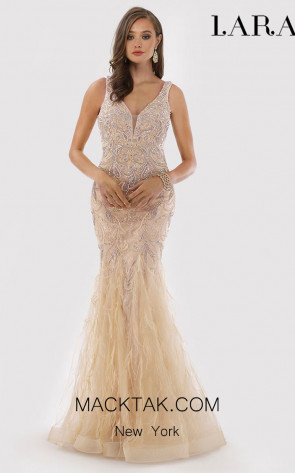Lara 29775 Champagne Front Dress
