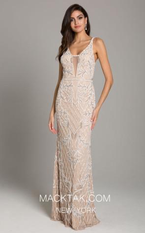 Lara 29833 Nude Ivory Front Dress