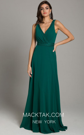 Lara 29864 Dark Green Front Evening Dress