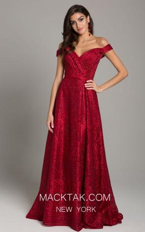 Lara 29878 Dark Red Front Dress
