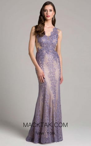 Lara 33231 Dusty Purple Front Dress
