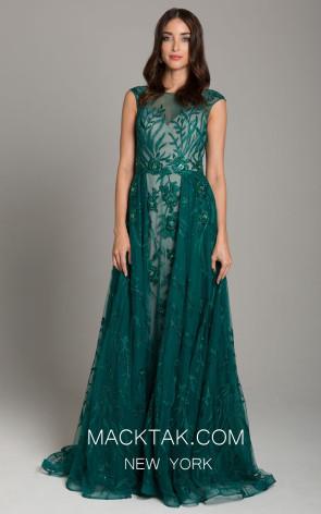 Lara 33273 Green Front Dress