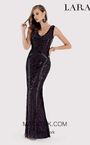 Lara 33552 Black Front Dress