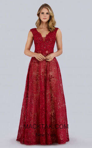 Lara 33598 Red Front Dress
