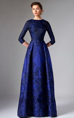 Edward Arsouni FW0289 Blue Front Dress