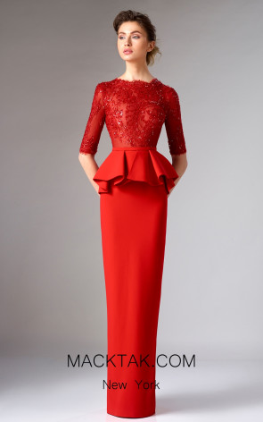 Edward Arsouni FW0296 Red Front Dress