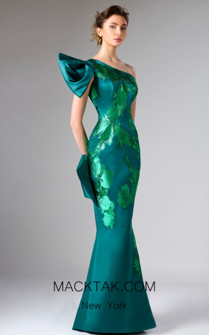 Edward Arsouni FW0308 Green Front Dress