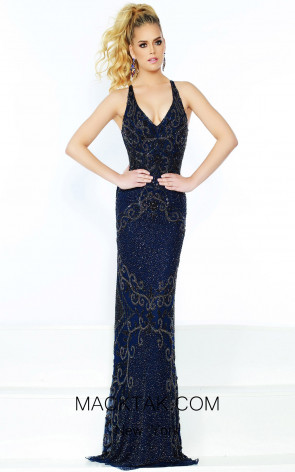 Lush by Jasz Couture 1518 Navy Front Prom Dress