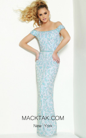 Lush by Jasz Couture 1524 Ice Blue Front Prom Dress