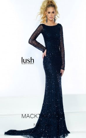 Lush by Jasz Couture 1534 Navy Front Prom Dress
