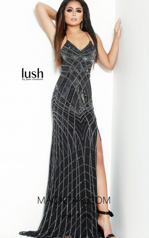 Lush by Jasz Couture 1539 Black Front Prom Dress