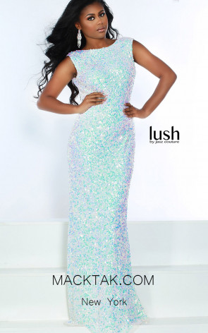Lush by Jasz Couture 1552 Ice Blue Front Prom Dress