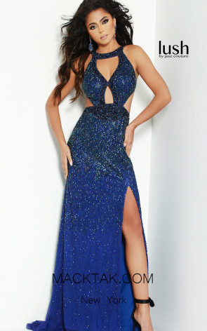 Lush by Jasz Couture 1568 Navy Front Prom Dress