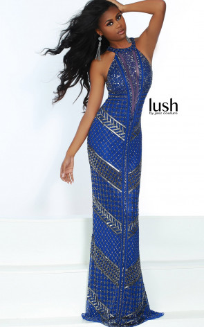 Lush by Jasz Couture 1574 Royal Front Prom Dress