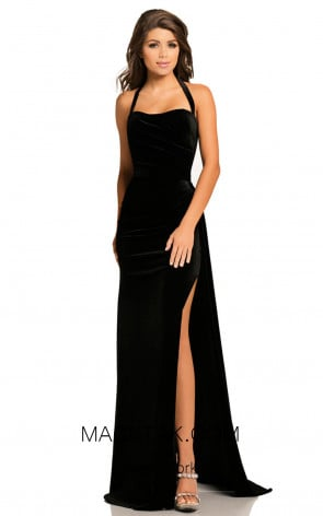 Johnathan Kayne 8087 Black Front Dress