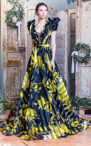 Missaki Couture MC3518 Print Dress