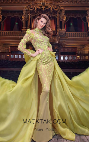 MNM 2358 Yellow Front Evening Dress